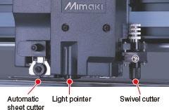 Automatic sheet cutter Light pointer Swivel cutter