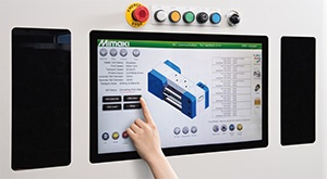 Wide touch panel display
