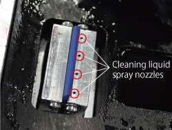 Cleaning liquid spray nozzles