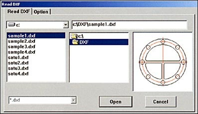 Importing from the DXF File