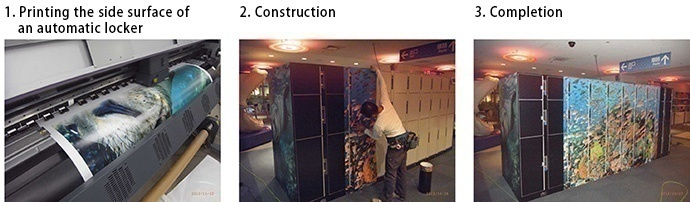 Printing, construction and completion of automatic locker wrapping