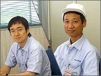 Left: Mr.Yanagisawa (Sales) Right: Mr. Miyazaki (Director)