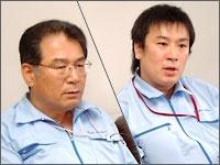 Left: Mr. Akihiro Takasu (CEO), Right: Mr. Taichi Takasu (Director in charge of sales)