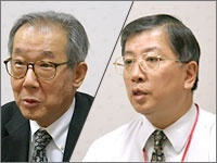 Left: Mr. Yoshida (Executive manager and division director of commercial imaging), Right: Mr. Takahashi (Assistant Manager of the production section)