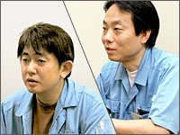 Mr. Obata (Factory manager) , Mr. Takayama (Chief of the system section)
