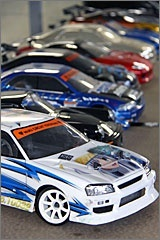 The 1/10 size of the radio controlled model car and sticker