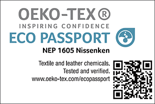 [ECO PASSPORT] Certification label No. NEP 1605