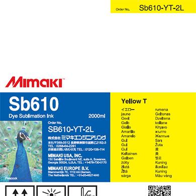 SB610-YT-2L Sb610 Yellow T