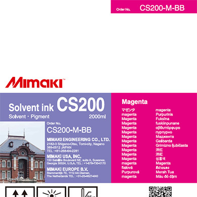 CS200-M-BB CS200 Solvent ink bottle Magenta
