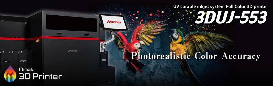 3DUJ-553   UV curable inkjet system Full Color 3D printer