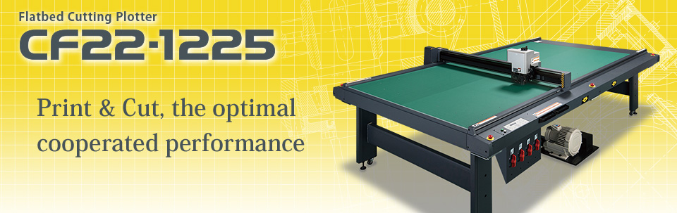 CF22-1225   Flatbed Cutting Plotter; Suitable to 4x8 size material