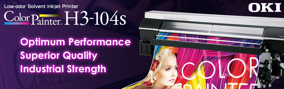 "ColorPainter H3-104s | Optimum Performance, Superior Quality, Industrial Strength - 104"" Flagship model with low-odor SX ink"