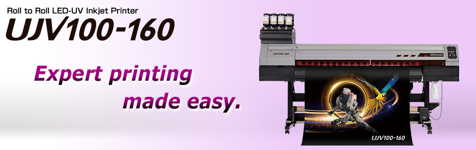 UJV100-160 | Roll to Roll LED-UV Inkjet Printer