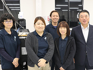 President Nishimaki and his staff