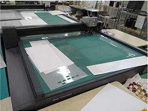 The factory is equipped with flatbed cutting plotters including CF2-0907.